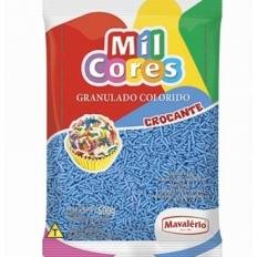 Granulado Crocante Azul 500g Mavalério