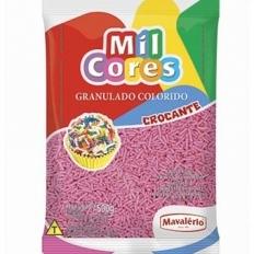 Granulado Colorido Crocante Rosa Mavalério 500g