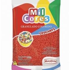 Granulado Crocante Vermelho 500g Mavalério