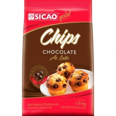 CHOCOLATE GOLD AO LEITE CHIPS 1,01KG SICAO