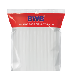 Tira de Pet (¨Palito) N°28 Branco BWB