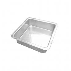 Forma Alumínio Quadrada Fundo Fixo 15x7 Caparroz
