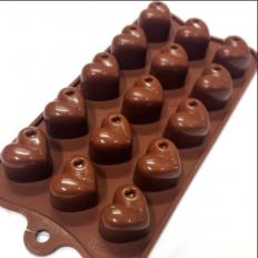 Forma de Silicone para Chocolate Corações Prime Chef