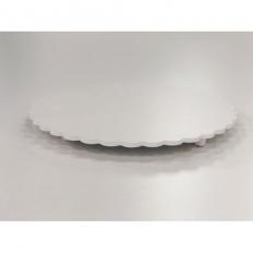 Tabuleiro Circular Crespo Branco 15cm Caparroz