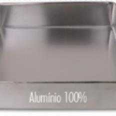 Forma Alumínio Quadrada Fundo Fixo 40x7 Dona Lella