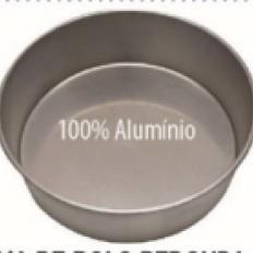 Forma Alumínio Redonda Fundo Falso 30x10 Dona Lella